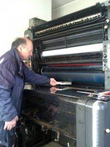 Zdravko Kecman and the hot metal press.